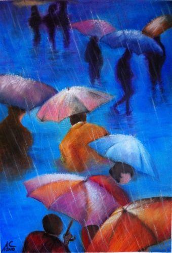 pastel huile 2012, Jour de pluie de Klash