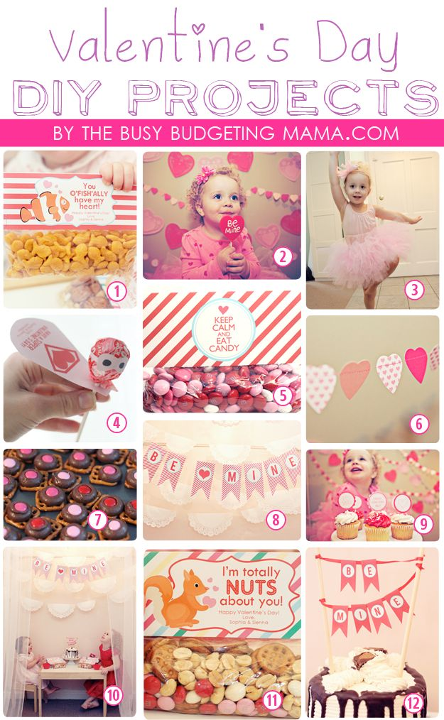The Busy Budgeting Mama: Valentine's Day DIY Projects- Archive (Printables, Garlands, Treat Bag Tags, Treat Ideas, No Sew Tulle Tutu Tutorial, Super Hero Lollipop Valentines, Mini Cake Bunting and more!