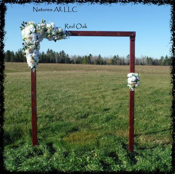 Rustic Wood Wedding Arch Arbor Complete Kit For Indoor Or Outdoor Use
