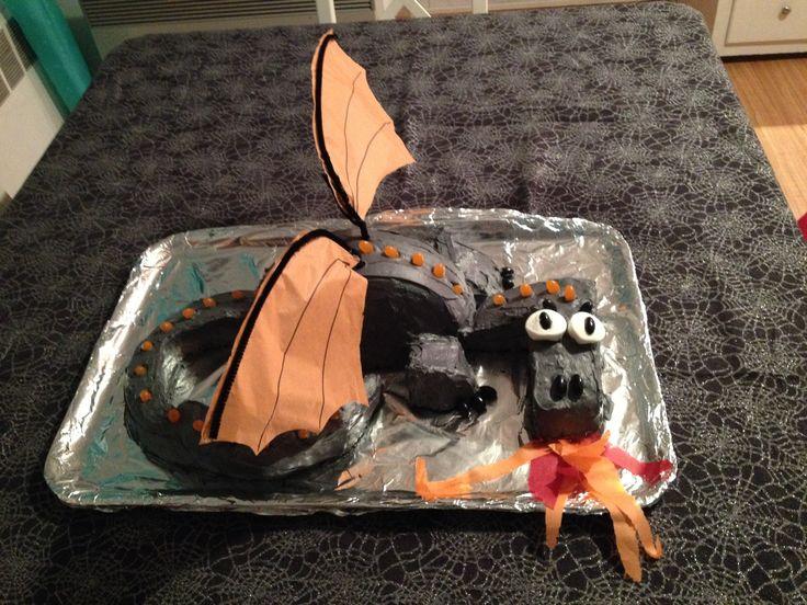 Gâteau en forme de dragon