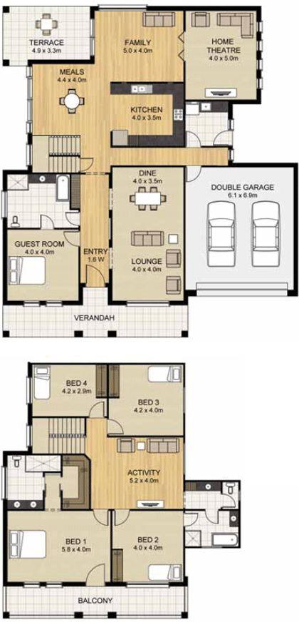 39 best House Plans images on Pinterest | House design, Blueprints ...