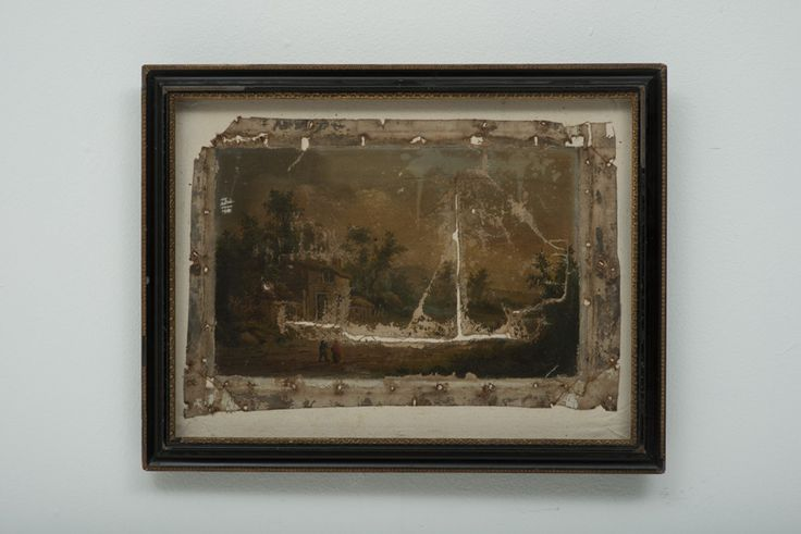 Antonio Bellotti Restoration Mixed Media and Oil on Canvas 45 x 58 cm (Including Frame)  #Art #Paintings #Ships