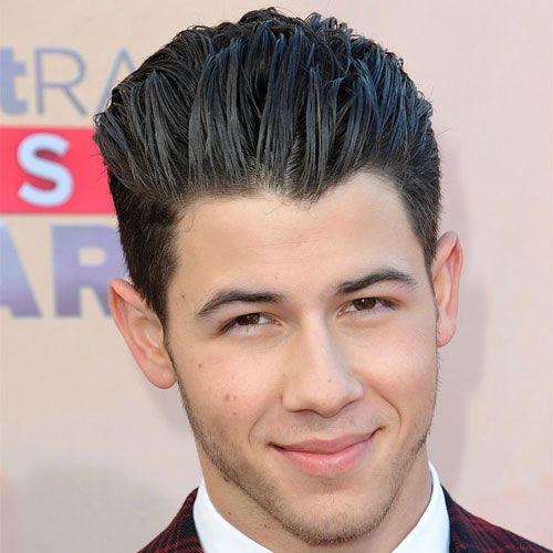 Nick Jonas Hairstyle - Slicked Back Hair + Short Sides