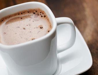 Diabetic Hot Chocolate for mom! 1T cocoa powder, 1T + 2t Splenda, 2T hot water, 1C 1% milk