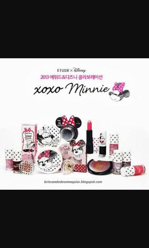 Coleção de maquiagem minnie