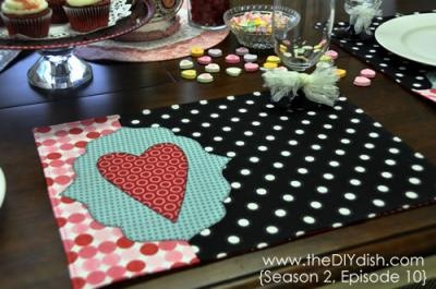Cute Valentines Day Place mats