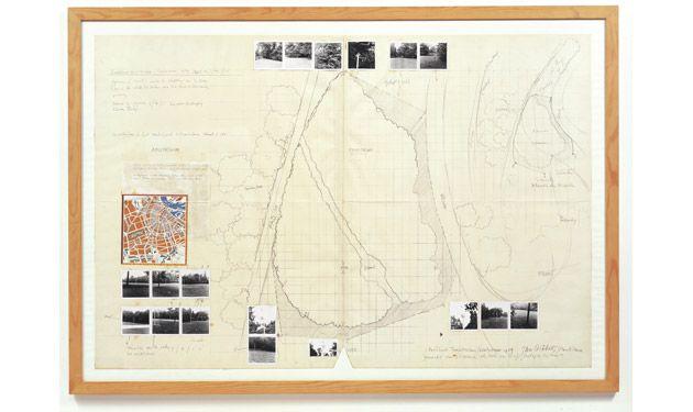 JAN DIBBETS - Roodborst Territorium/Sculptuur