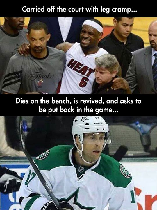 This Hilarious Comparison Of LeBron James And Hockey Stars ...