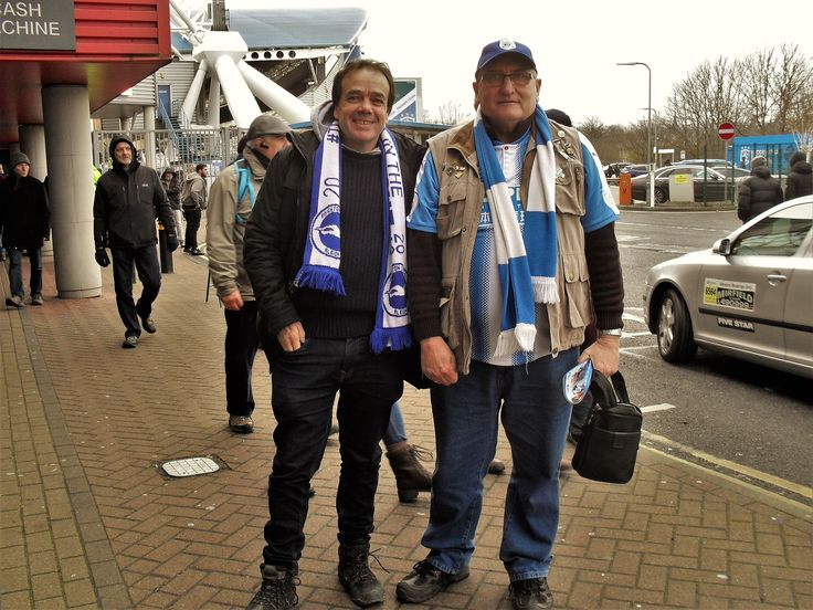 My mate Paul up from Brighton for the game.