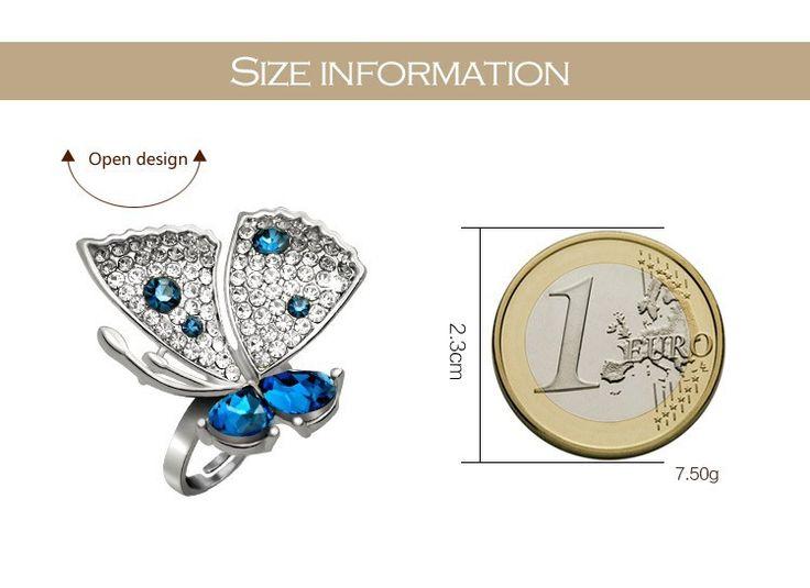 Aliexpress.com: Купить Специальный новинка обручальные кольца большая бабочка дизайн кольца бесплатная доставка подарки для девочек женщины девушки JZ150509 из Надежный gifts western поставщиков на Special Fashion Jewelry