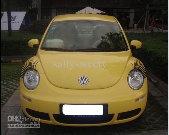 Car Eyelashes: Fashion 3D Car Eyelashes 3D Car Logo Stickers Lashes