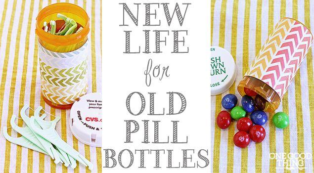 réutiliser des bouteilles de pilules