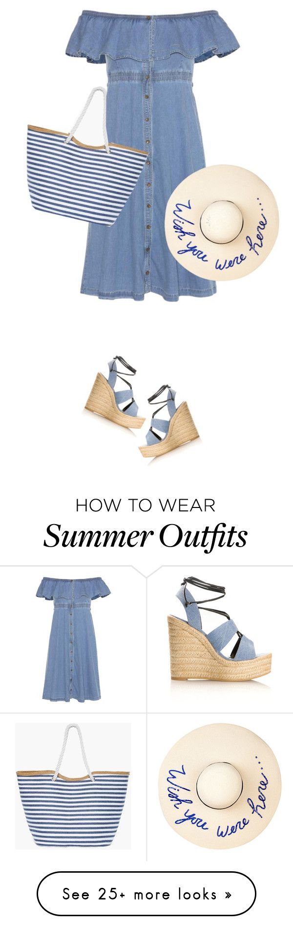 """""""Summer Hat"""" by daiscat on Polyvore featuring Tommy Hilfiger, Yves Saint Laurent, Eugenia Kim and Chico's"""