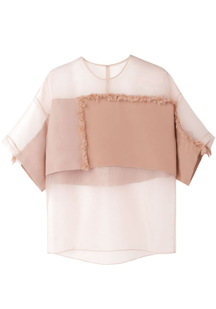 3.1 Phillip Lim / Organza Fringe Blouse ick but...soft colors and bent chenille