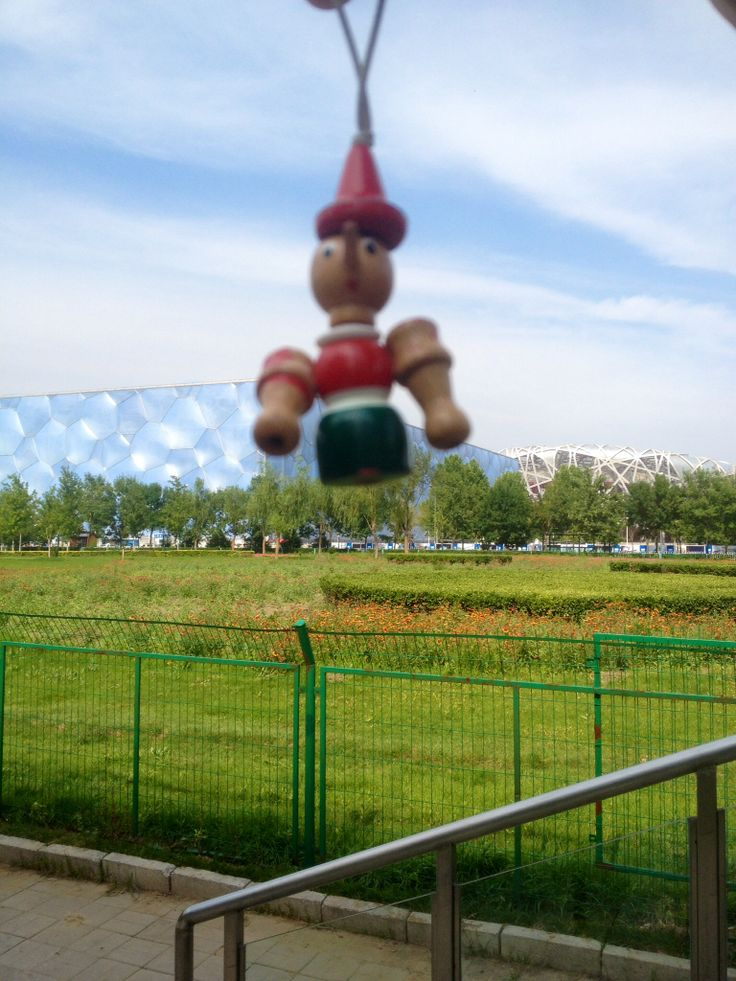 Pinocchio is in Beijing Olympic park. ;)