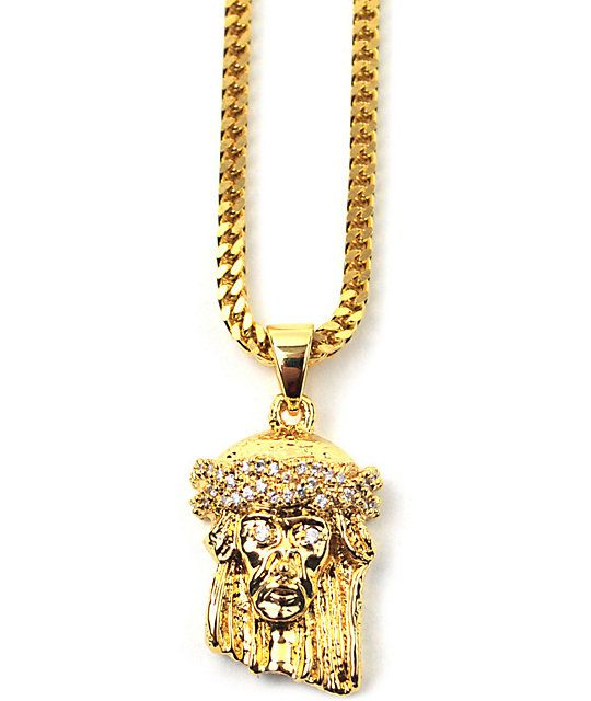 Ball outrageous when you add the eye-catching look of the gold Jesus Piece necklace from The Gold Gods. An iconic piece of jewelry, the Jesus Piece has become a staple in street culture and now you can own a piece with this 18K yellow gold colored Jesus h