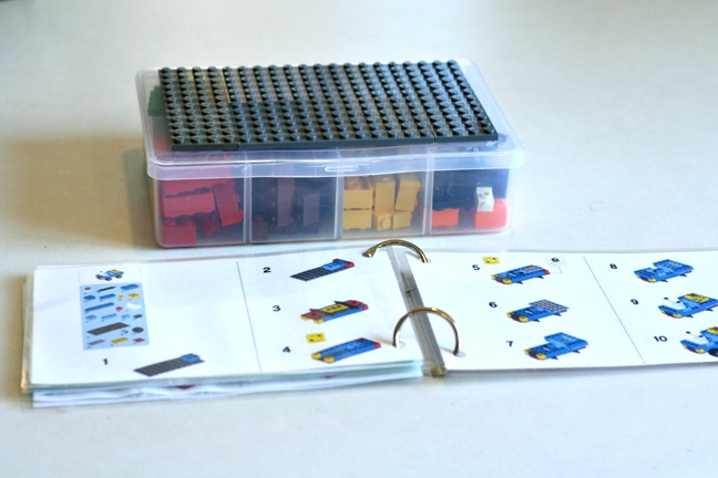 DIY lego travel box including plans downloaded from the Lego site. Love this idea.