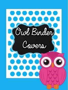 WOW, super cute owl binder covers for your classroom subject binders!!!
