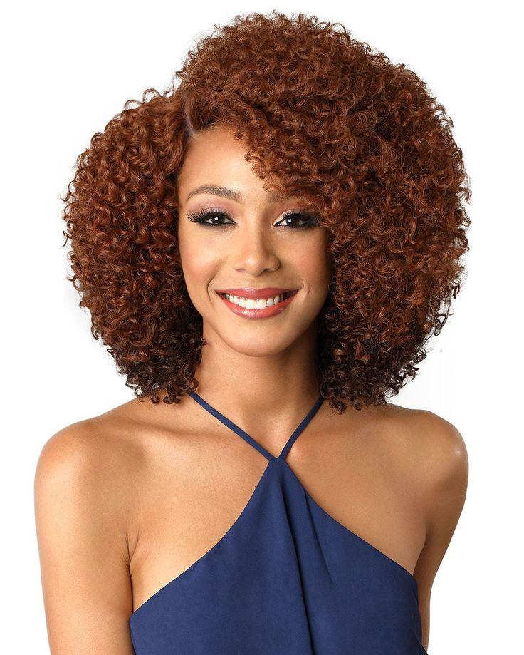 Bobbi boss swiss lace front wig mlf159 nana curly hair