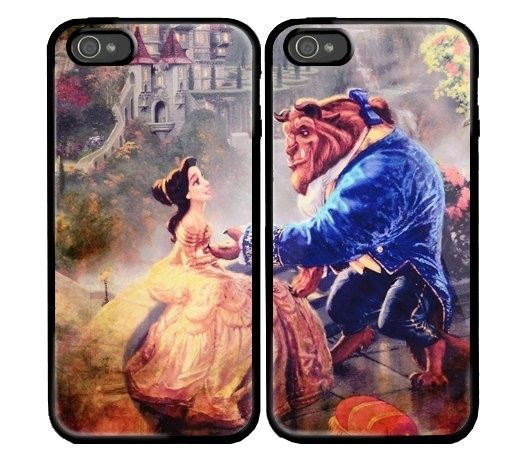 I found 'Beauty and the Beast Custom couple Case for iPhone 4 and iPhone 5 case.' on Wish, check it out!
