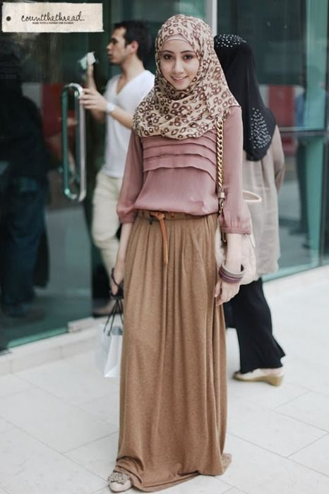Muslima fashion, modest coverings.