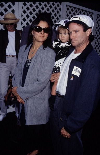 Robin Williams, daughter Zelda and his 2nd wife Marsha January 01, 1991 | Credit: Time & Life Pictures