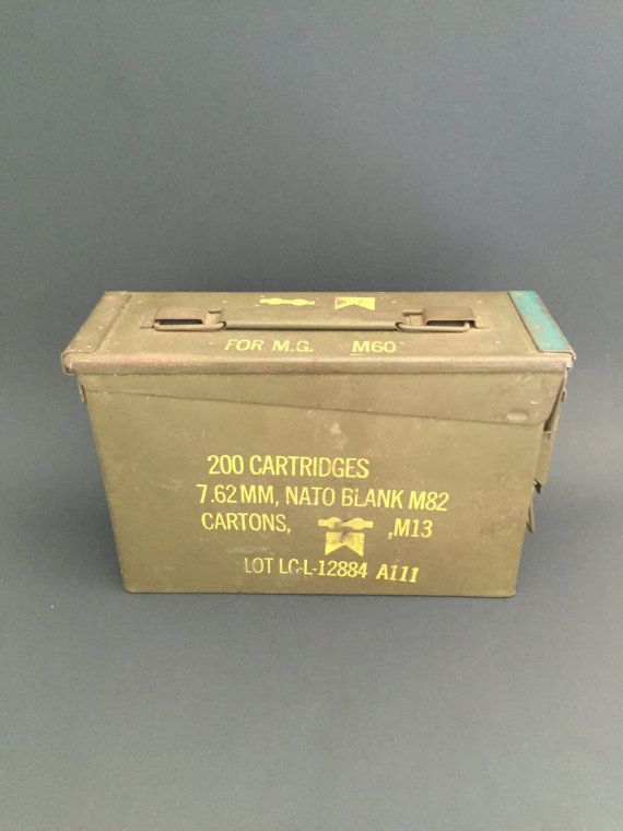 Ammo Can; US Military Green Metal Ammunition Box; Militaria; Ammo Box; Vintage Ammo Box; Vintage Military Box; Metal Storage Box #UsMilitaryAmmoBox #VintageMilitaria #VintageMilitaryBox #AmmoBox #MilitaryAmmoBox #ArmyGreenAmmoBox #GreenAmmoBox #AmmunitionBox #VintageAmmoBox #MetalAmmoBox
