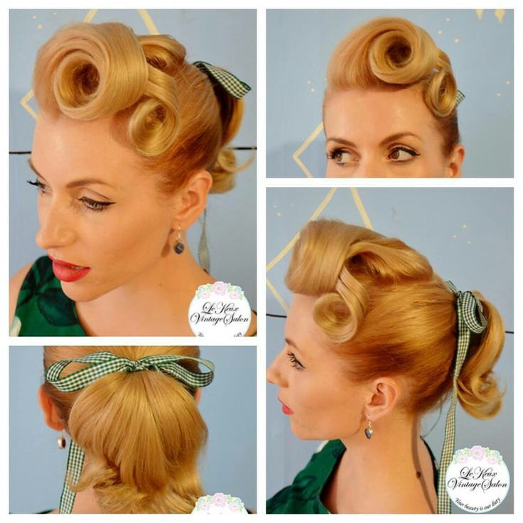 Soda shop rolls and ponytail