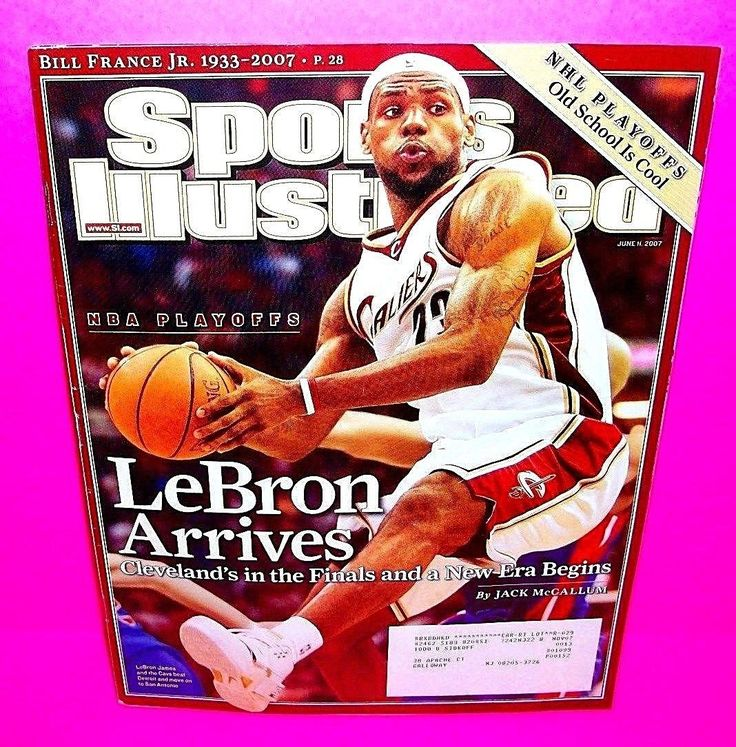 LEBRON JAMES Sports Illustrated June 11, 2007 Arrives NBA PLAYOFFS! CAVALIERS