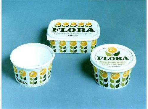 Flora packaging. Sweden, 1960s.