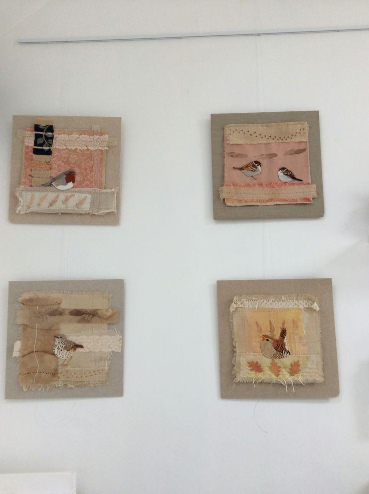 Irish garden birds series. Hand embroidery. www.violetshirran.com Clifden Arts Festival