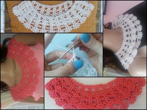 (6) crochet collar tutorial part 1 of 2 - YouTube