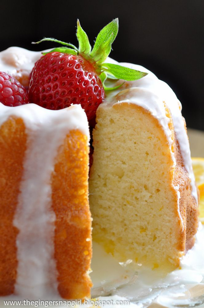 Glazed Meyer Lemon Buttermilk Cake