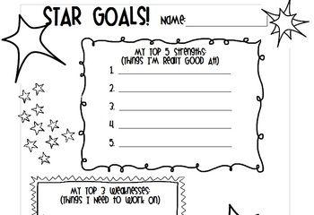 Star Goals - Behavior Goal-Setting Worksheet - FREE