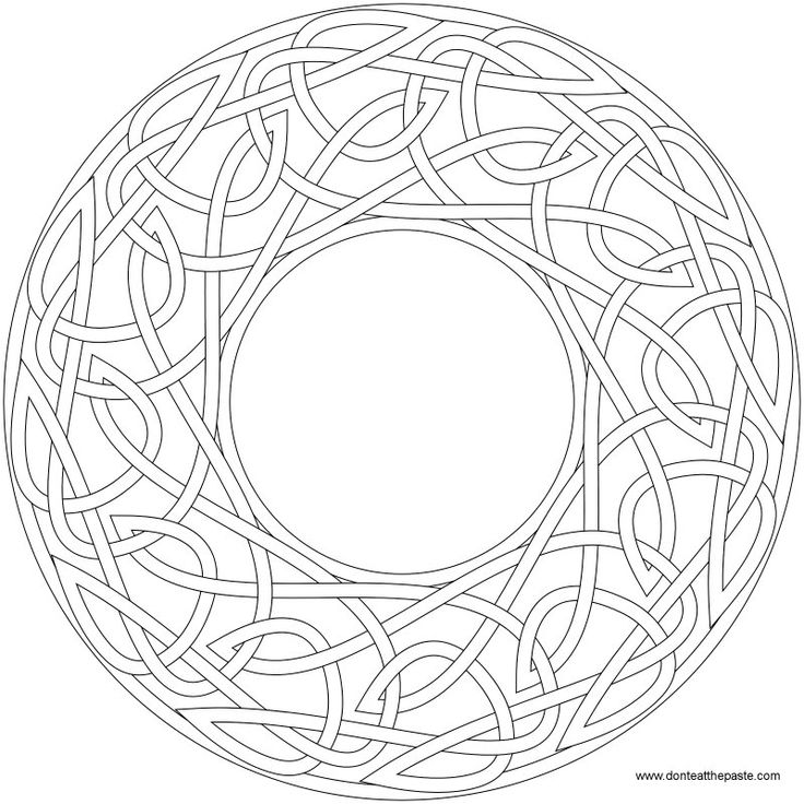 knotwork frame to color there is also a version available for embroidery the coloring