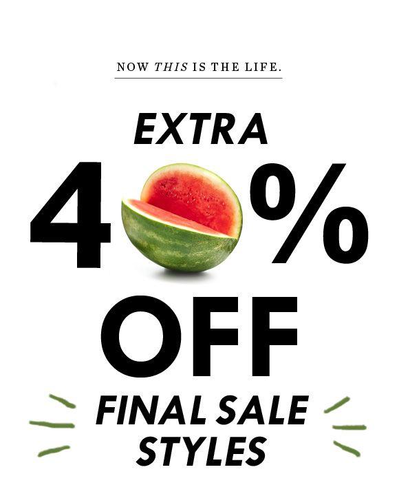 JCrew.com - 40% off
