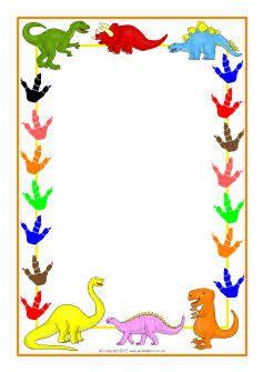 Dinosaur-themed A4 page borders (SB3978) - SparkleBox