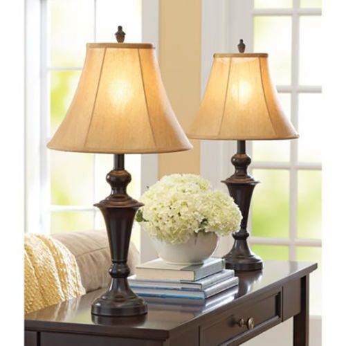 Table Lamp Shades Traditional Home Decor Living Room Nightstand Bedroom Set  Of 2 Part 30