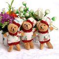 Buquês de flores Acessório Modelo OPP Urso Ursos de pelúcia Pequeno Macio Com Vestido de Natal Para A Promoção Do Presente Do Natal