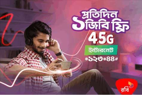 Robi 4G Internet Offer 4GB Free Data! Bangladesh already started 4G service Grammenphone, Robi, Banglalink, and Airtel. In this post, we share regarding Robi 4G bonus, Robi recently run a special 4G internet data bonus offer.  Presently Experience 4G Internet with Robi, the Robi provides 4GB (4G) internet totally free this offer for Robi all 4G customers.  To get and appreciate 1GB Per day for 4 continuous days just follow this content we've intercalary all details about Robi 4G internet…