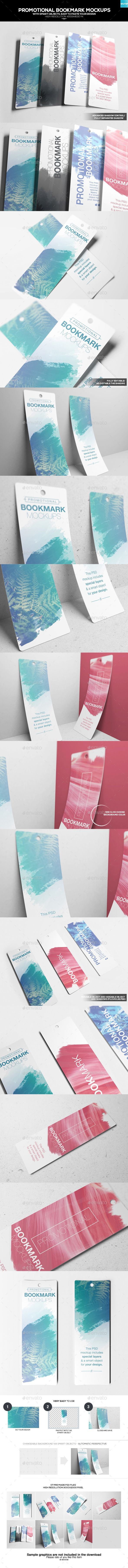 Promotional Bookmark Mockups