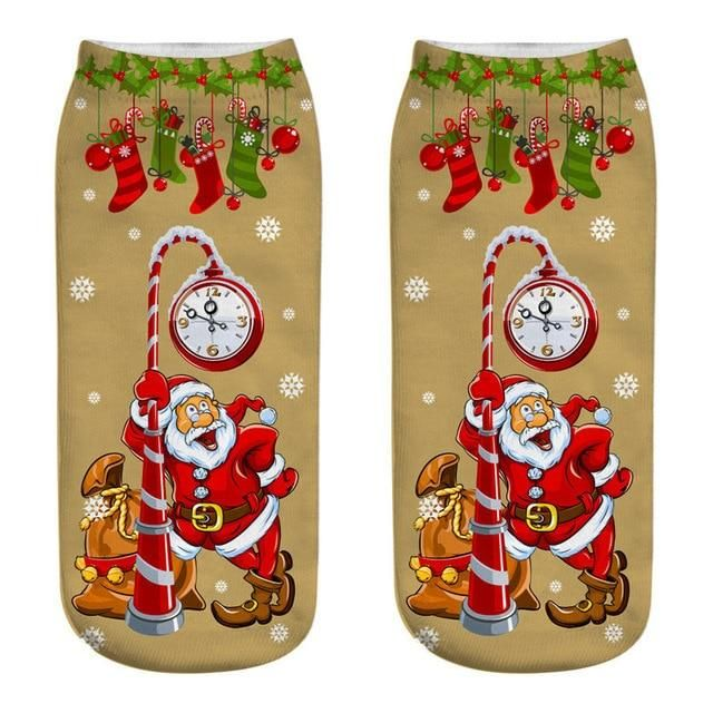 328b6fd64646c 3D Print Christmas Cartoon Unisex Socks, Funny Elk, Snowman, Santa Ank –  Totally All Some