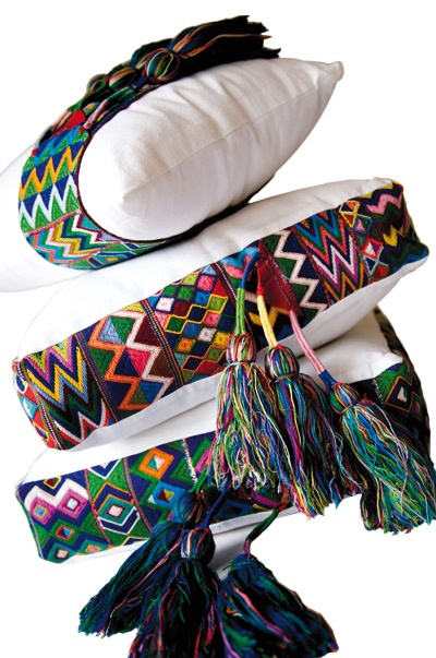 Mexican design coushions * Deco Findings * The Inner Interiorista