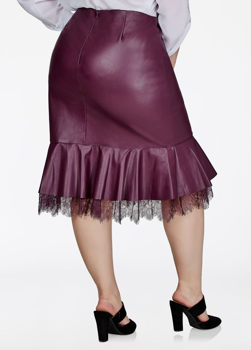 Faux Leather Peplum Skirt