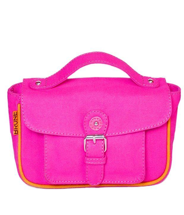 Brune Ladies Pink Leather Bag, http://www.snapdeal.com/product/brune-ladies-pink-leather-bag/25367481