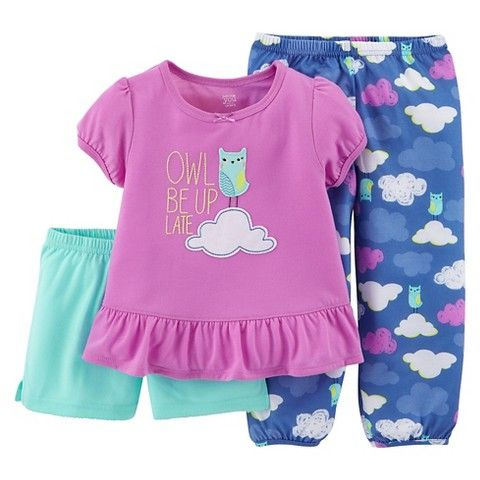 Just One You™ Made by Carters® Toddler Girls' 3-Piece Mix & Match Pajama Set