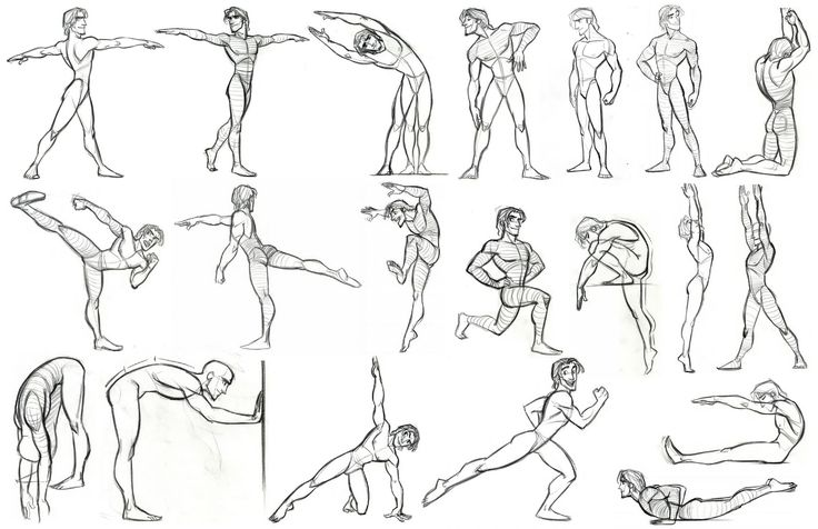 Disney Character Design References : How to draw the human body study yoga and stretching