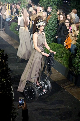 Segway PT's in the Supertrash Parade during Fashionweek Amsterdam 2013