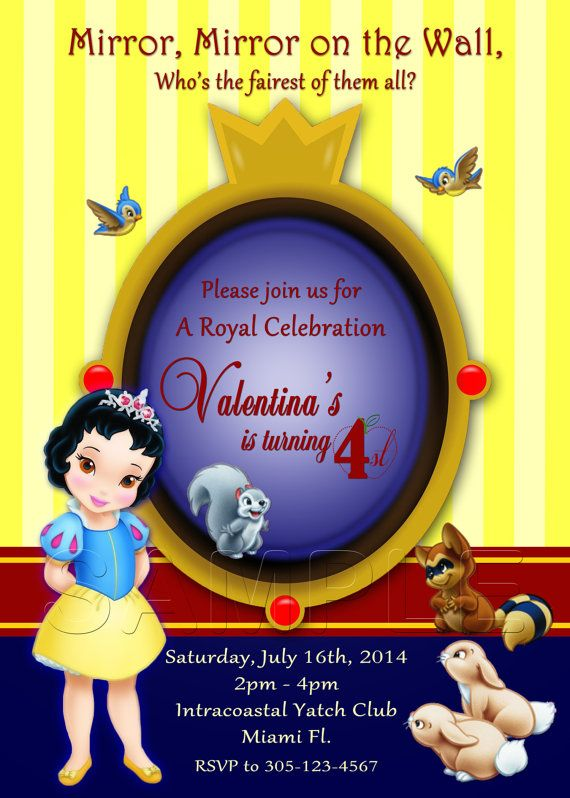 48 best Party Invitation DIY images – Personalized Disney Birthday Invitations