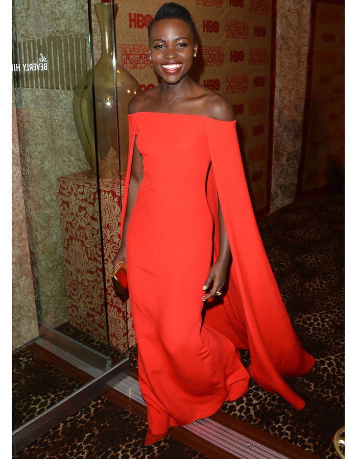 En robe rouge incandesente Ralph Lauren